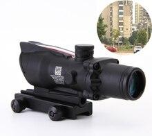Polowanie Air soft 4X32 Zakres czarny Tactical Rifle scope Red Optyczne Lunety ZAKRES w/Tri-Podświetlany Chevron Recticle