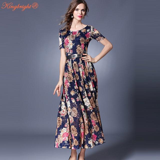 72a91c1c4554 Di alta Qualità Donna Abiti Vintage Nuovo Arrivo Slim Una Linea lungo Maxi Vestito  Nero Campana