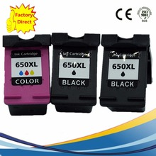 3 Pack 650 XL 650XL Ink Cartridges For HP 650 HP650 HP650XL Deskjet Advantage 1015 1515 2515 2545 2645 3515 4645 Inkjet Printer