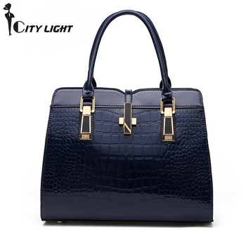 Brand Fashion Alligator Women PU Leather Handbag Luxury Crocodile Pattern Female Hand Bag Designer  Ladies Bags
