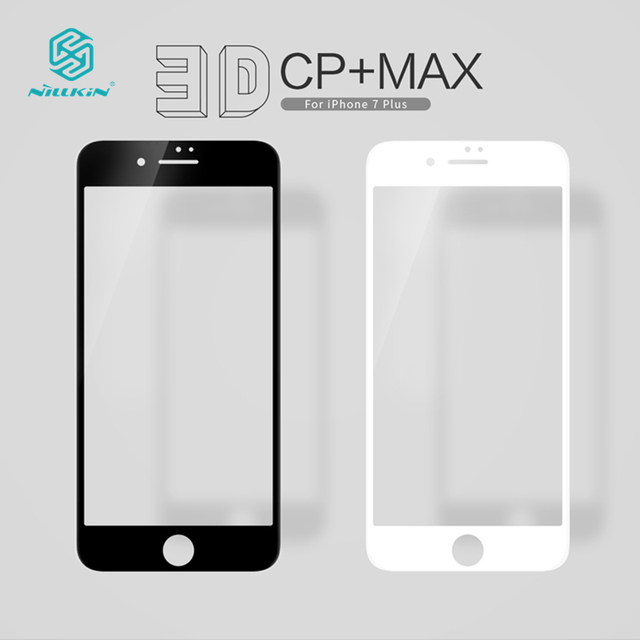 NILLKIN Amazing 3D CP+ MAX Full Tempered Glass Film For iphone 7PLUS Edge Coverage Anti-Explosion Screen Protector For 7plus