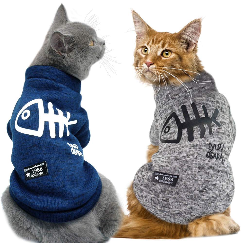 Cute Cat Clothing Winter Pet Puppy Dog Clothes Hoodies