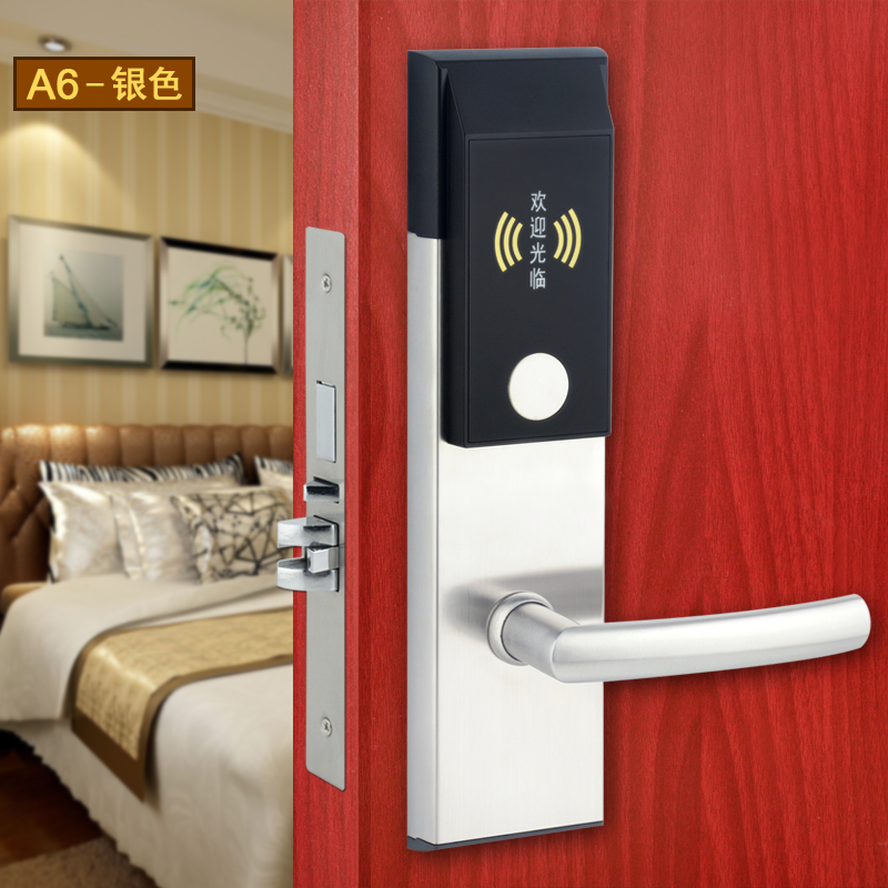 New Design Stainless Steel RF Electronic Electric Hotel Lock Door RFID 3 colors digital electric hotel lock best rfid hotel electronic door lock for hotel door et101rf