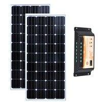 Комплект Панель s солнечный 24 В 300 Вт Панели солнечные 150 Вт 12 В 2 предмета Контроллер заряда 12 В/ 24 В 20A Campervan Rv кемпинг автомобиля автодом
