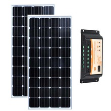 Kit Panels Solar  24v 300w Solar Panel 150w 12v 2 Pcs Solar Charge Controller 12v/24v 20A Campervan Rv Camping Car Motorhome сигнал тревоги car treasure 12v 24v