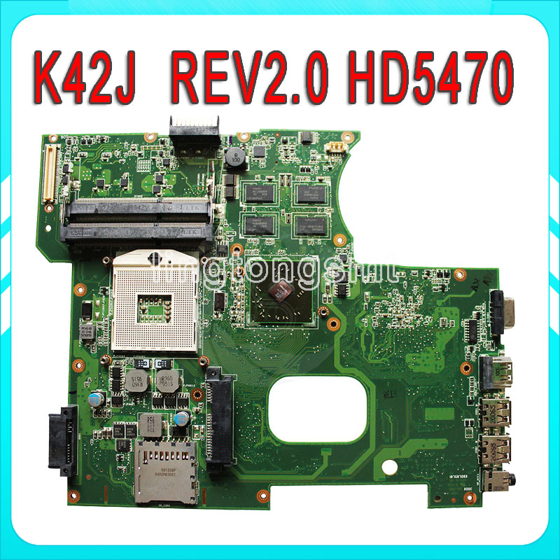 Original K42J for ASUS Laptop K42JR K42J K42JZ K42JB K42JY K42JB Motherboard Main board REV2.0  HM55 Chipset fully tested эксмо 978 5 699 73115 2