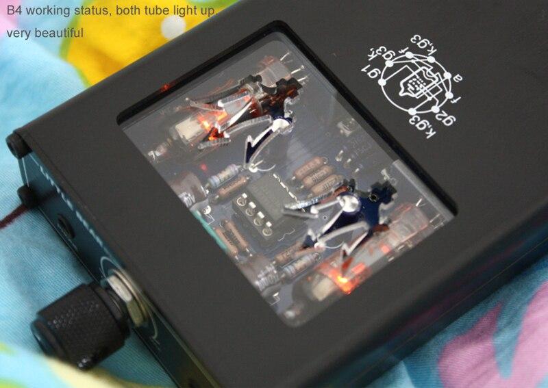 Мощный портативный двойной Электронный ламповый усилитель для наушников, мини усилитель для мобильного телефона, музыкальная гарнитура, у... - 4