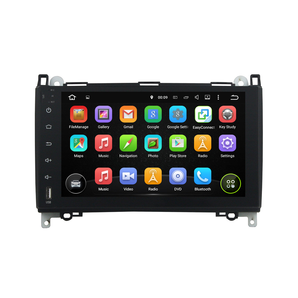 Android 5.1.1 Cortex A9, 4-core 1.6GHz Dashboard Placement And 9 Inch HD Touch Screen 2 Din Car DVD For Mercedes BENZ B200