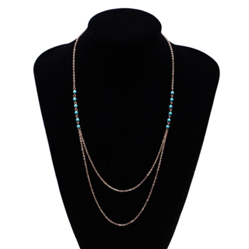 f6c97043ce5c2 Chegada nova Estilo Simples Do Vintage collier femme Longa Corrente de Ouro  Colar de Jóias mulheres Frete Grátis