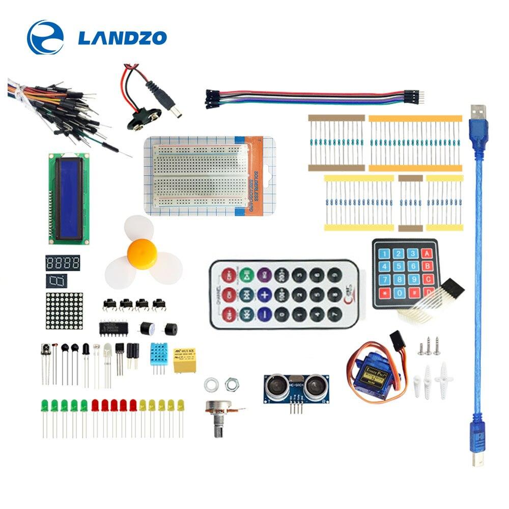 UNO R3 Starter kit Learning Kit Upgraded version 9G Server / sensor / 1602 LCD / jumper Wire / UNO R3 / ResistorUNO R3 Starter kit Learning Kit Upgraded version 9G Server / sensor / 1602 LCD / jumper Wire / UNO R3 / Resistor