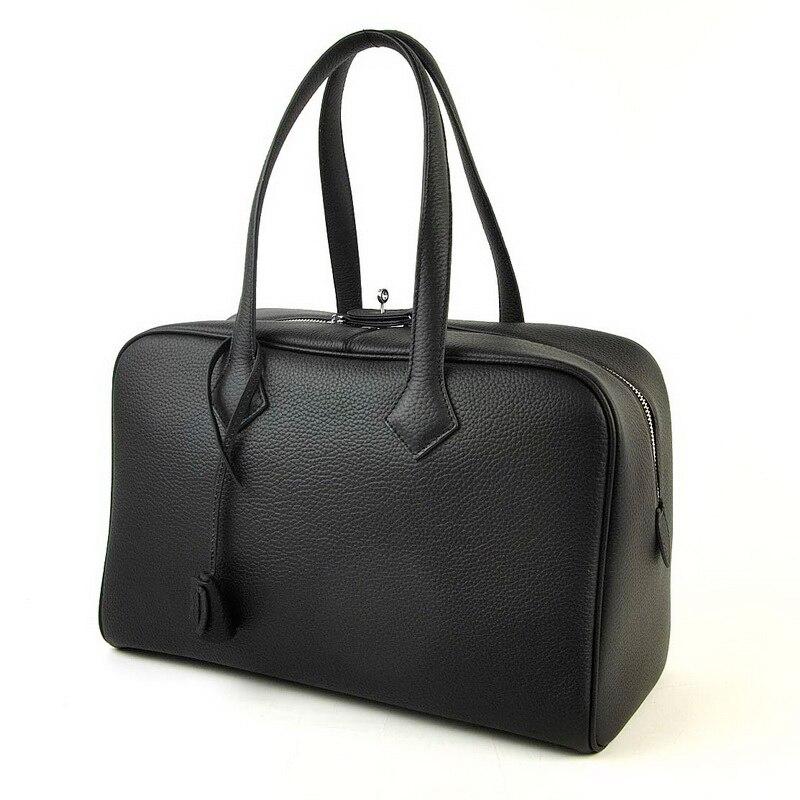 Las mujeres de cuero bolsa de lona de cuero, bolso de viaje bolso de la marca nueva moda mujeres equipaje tamaño mediano dama bolsas-in Bolsas de viaje from Maletas y bolsas    1