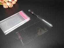 1000 unids Claro Resellable BOPP/Poly/Bolsas de Celofán 4×9 cm OPP Auto-Adhesivo Transparente envases De Plástico cosméticos bolsas de Embalaje