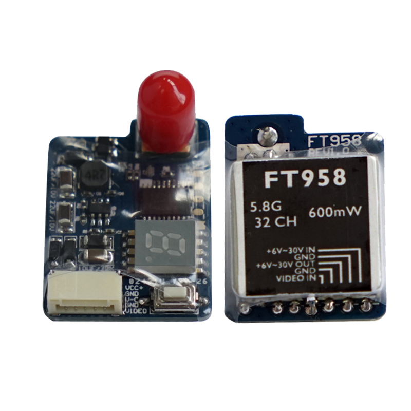 FT958 5.8G 40CH 600mW FPV AV Transmitter 40CH FPV Mini Wireless Image Transmission with Antenna for RC Quadcopter Multicopter 5 8g 600mw mini wireless audio video av transmitter mushroom antenna 32ch tx fpv for gopro hero 3 mobius active 808 sj 4k f11800