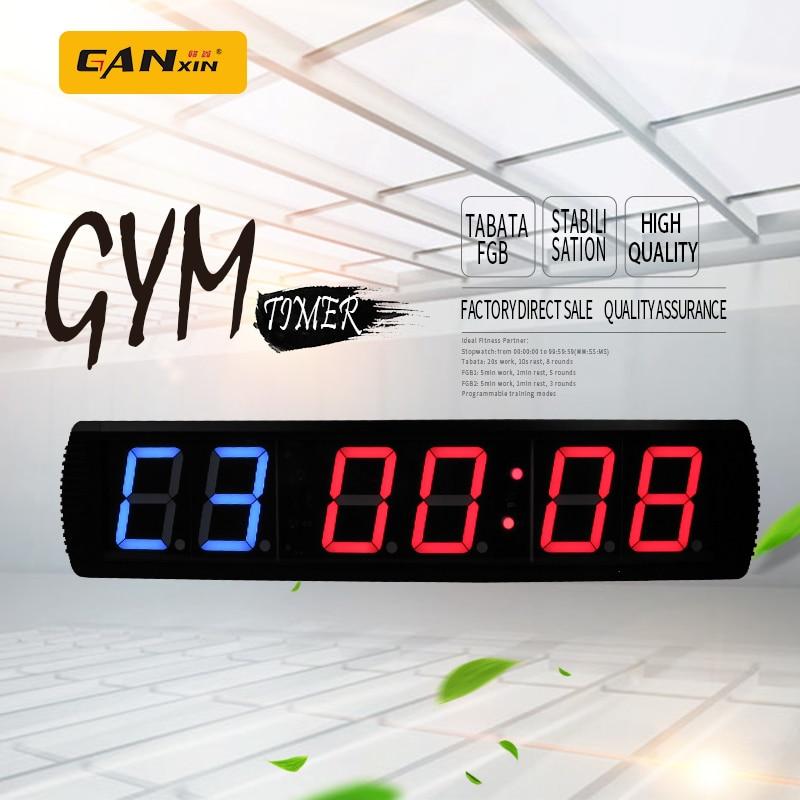 [Ganxin] უფასო ტრანსპორტირება 4inch GYM crossfit დრო, ვარჯიშის დრო და დანარჩენი მონაცვლეობით