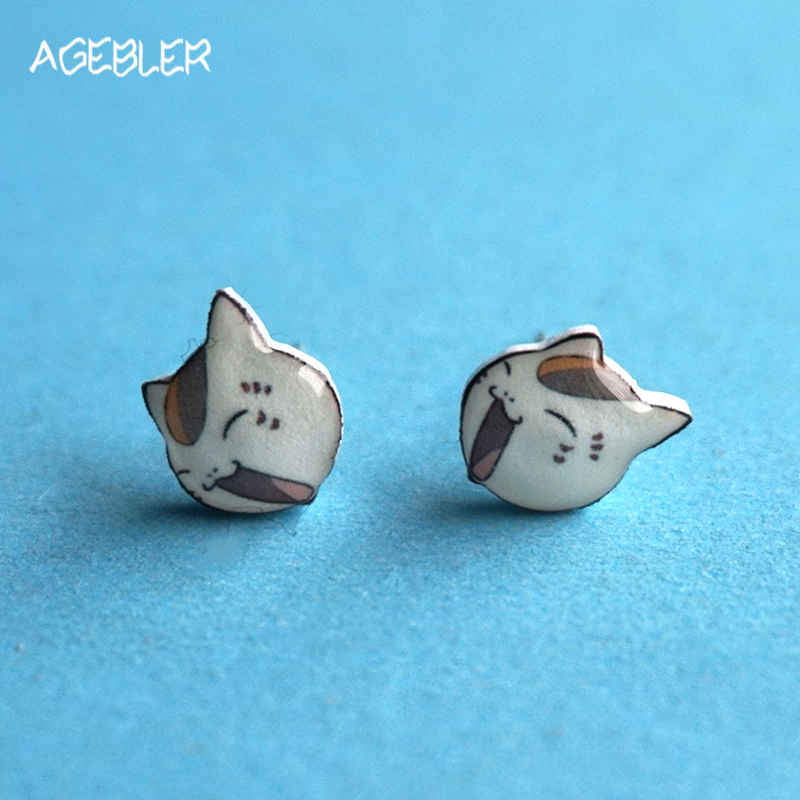Filles plaqué argent Bijoux Oreille Stud Animal Ear Stud Cat Paw Print Boucles d/'oreilles