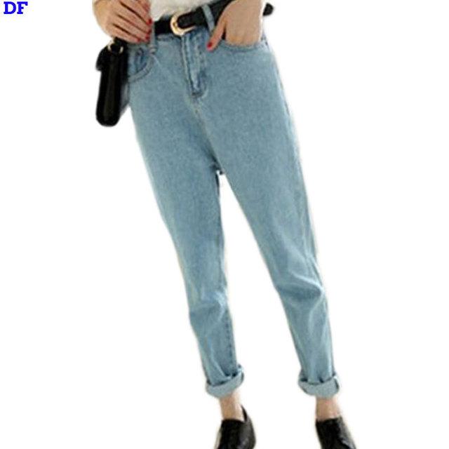 Denim calças de Brim Das Mulheres calças 2016 Calças Lápis Slim Boyfriend Jeans Para As Mulheres de Alta Qualidade Casual Denim Calças Skinny Jeans Mulheres Calças