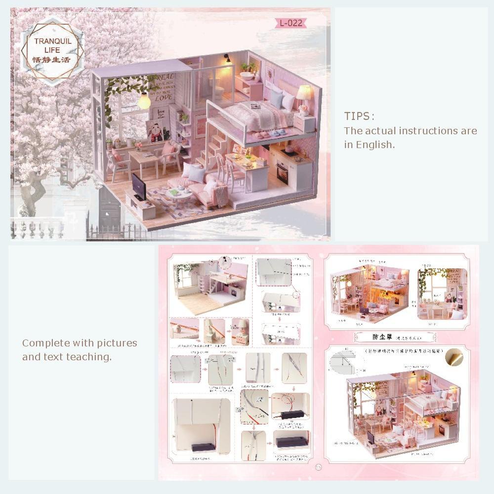 Image 3 - Cutebee Doll House Furniture Miniature Dollhouse DIY Miniature House Room Box Theatre Toys for Children Casa DIY Dollhouse L22CDoll Houses   -