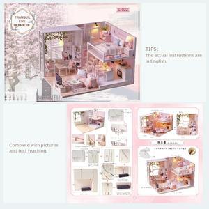 Image 3 - Cutebee ตุ๊กตาเฟอร์นิเจอร์บ้าน Miniature ตุ๊กตา DIY Miniature บ้านกล่อง Theatre ของเล่นเด็ก DIY Dollhouse E