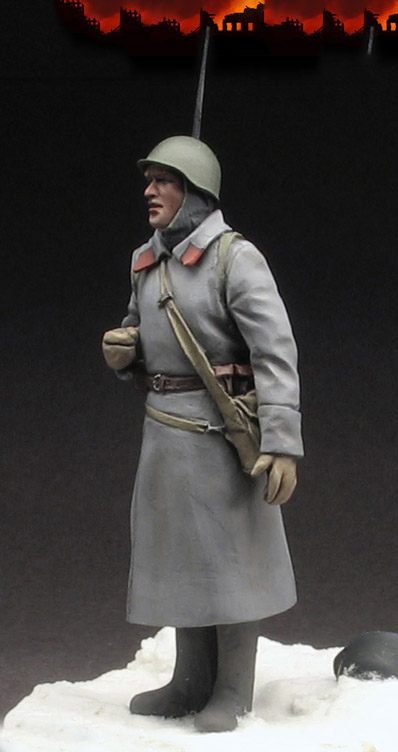 Scale Models 1/ 35 Red Army rifleman, winter standing soldier figure Historical WWII Resin Model Free Shipping