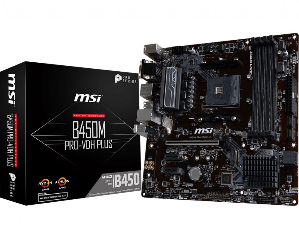 Original Motherboard New MSI B450M PRO-VDH PLUS DDR4 Socket AM4 64G USB2.0 USB3.1 HDMI VGA DVI Desktop Motherborad Free Shipping