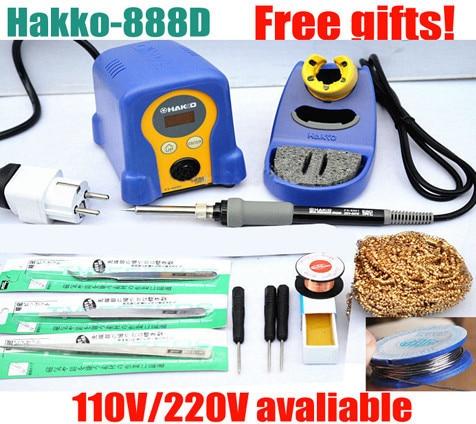high quality EU plug High quality HAKKO FX-888 FX-888D Digital Soldering Station/Solder Soldering Iron 70W 110V/220V Many gifts