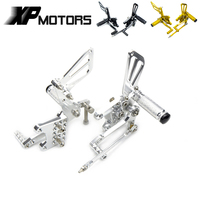 CNC Racing Foot Pegs Footrests FootPegs Rear Sets For Suzuki SV400 SV400S 1998 2002 SV1000 SV1000S 2003 2007 Billet Adjustable