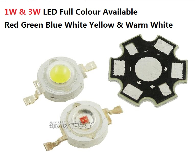 Electronic Components & Supplies Diodes 10pcs 1w/3w Led Bead 3.4-3.6v Red Blue Warm White Green Yellow High Power Brightness Beads 10pcs Aluminum Radiator Board Available In Various Designs And Specifications For Your Selection