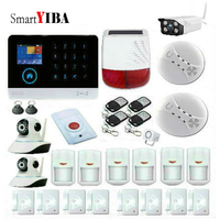 SmartYIBA Free Shipping WiFi GSM RFID Security Alarm System Solar Siren IP Camera ISO Android App