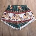 2016 New Style Exotic Women Short Lady Sexy Hot Shorts Summer Casual Elephant Printing High Waist Summer Shorts