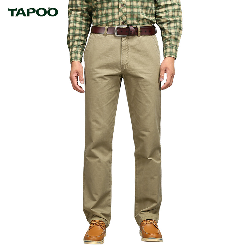 TAPOO High Quality brand clothing Men s Casual Pants Cotton Camouflage Relaxed Men s Trousers With
