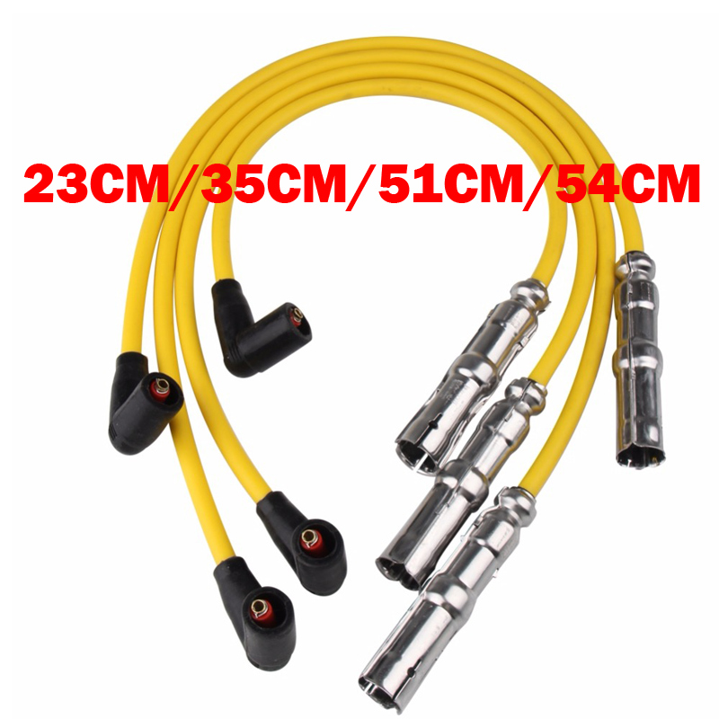 New Spark Plug Ignition Wire Cable Set For VW Volkswagen Jetta Golf Beetle 27588 VWC03 CH74211 QW1493 35-4413