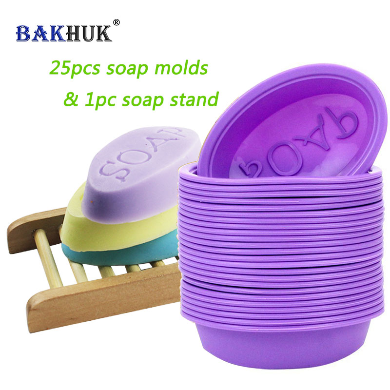 25Pcs Silicone Oval Soap Molds Baking Mold Cupcake Liners Handmade Soap Mould