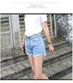 AS45 2016 Новый Летний Стиль Плюс Размер Женщины Высокой Талией Нерегулярные Fringe Синий Джинсовые Шорты Женщины Повседневная Карманный Джинсы Шорты