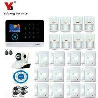 Yobang безопасности беспроводной GSM и wifi умный дом охранной сигнализации наборы инфракрасного движения сенсор двери Магнетизм приложение упр