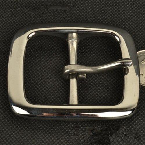 Мужская нержавеющей стали Пряжка на ремешке Mens Pin застежка пряжки на слово иглы головка привести ремень штаны для отдыха