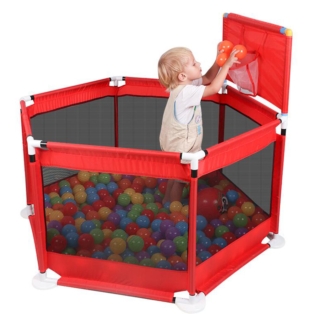 Folding Baby Fence Ball Pool Kids Playpen Safe Barrier For Bed 0-6 Years Children's Playpen Oxford Cloth Pool Balls Child Fence