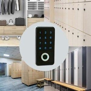 Image 5 - 指紋パスワードコンビネーションスマートロックデジタル電子ドアロックセキュリティインテリジェントパスワードロックホーム警報