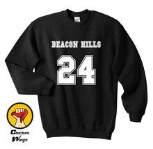 Beacon Hills Teen Wolf Sweatshirt Clothing 24 Crimson Red Women -C831