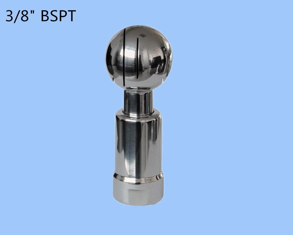 """3/8 """"SS304 περιστροφική δεξαμενή πλύσης σπρέι σφαιριδίου σπείρωμα περιστροφικό ακροφύσιο, βιομηχανική / εργοστασιακή δεξαμενή, καθαρισμός δεξαμενής"""