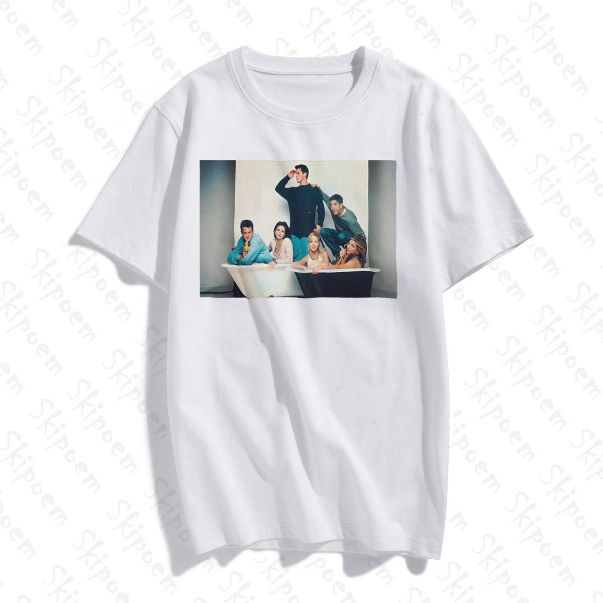 New Cotton Women T Shirt Friends TV Fashion Art Simple Artwork Print Short Sleeve Tops & Tees Fashion Casual  Brand Clothing