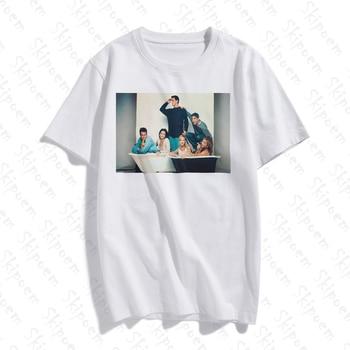 New Cotton Women T Shirt Friends TV Fashion Art Simple skipoem Print Short Sleeve Tops & Tees Fashion Casual  Brand Clothing new cotton women t shirt friends tv fashion art fashion artwork print short sleeve tops