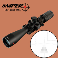 SNIPER LS 15X50 WAL Tactical Riflescope Hunting Optical Sight 35mm Tube Eyepiece Adjustment Parallax Rifle Scope Filled Nitrogen