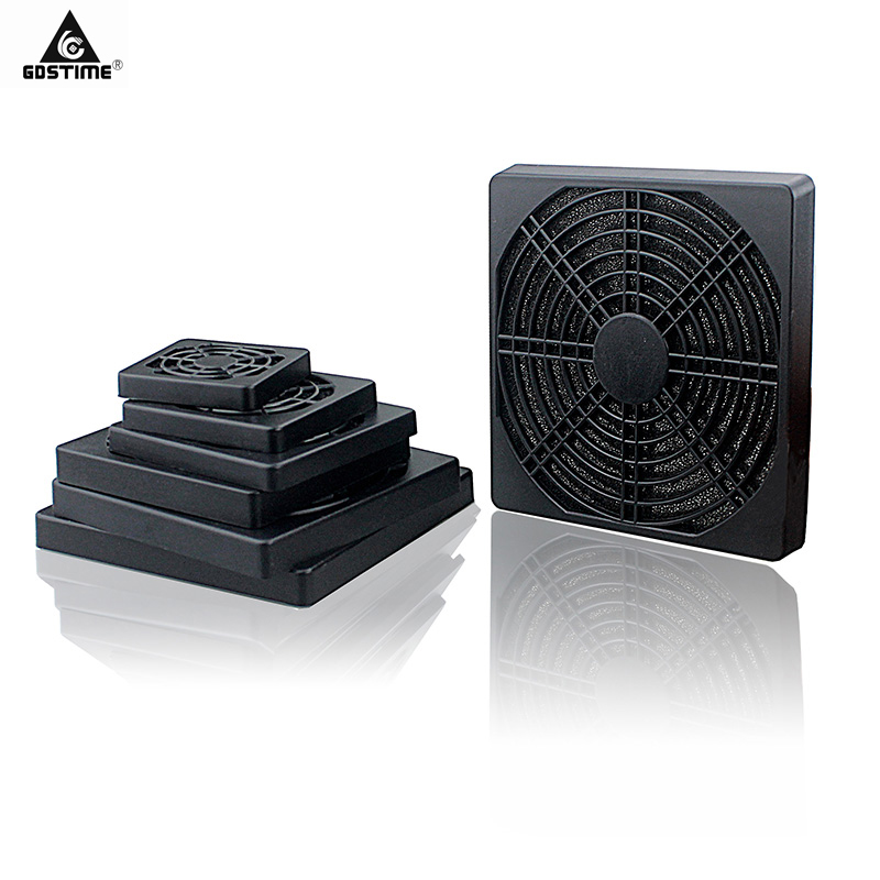 BLACK PLASTIC MESH DUST FILTER COVER GRILL FOR 40MM 80MM 90MM 120MM PC CASE FAN