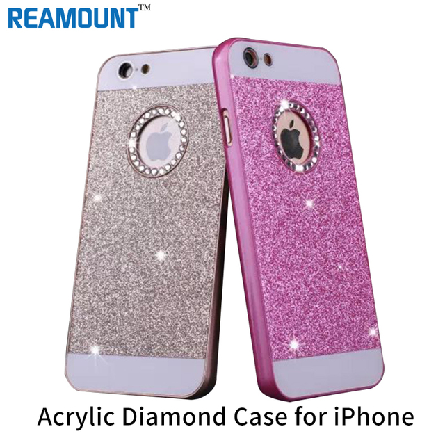 new style 0eb49 81cbd US $290.0 |Shinning Case Sparkle Glitter Bling Diamond Fashion Protector  Cell Phone Back Cover For apple iphone 5 5s SE 6 6s -in Phone Bumpers from  ...