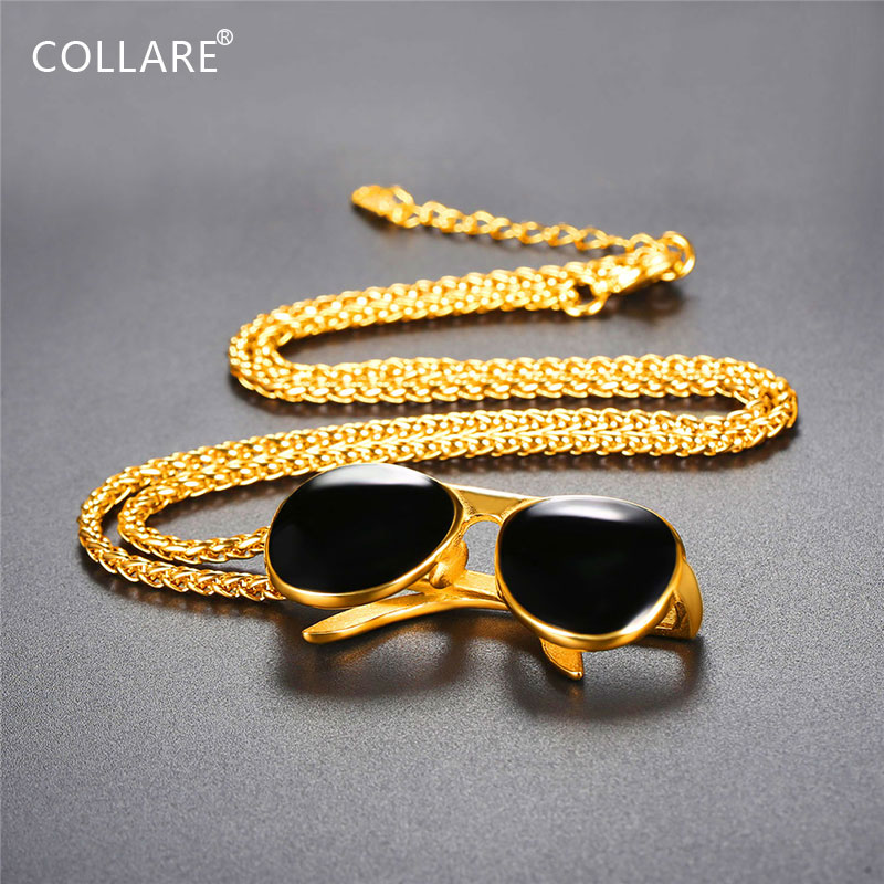Collare Sunglasses Pendant Gold Color Eyeglass Hipster