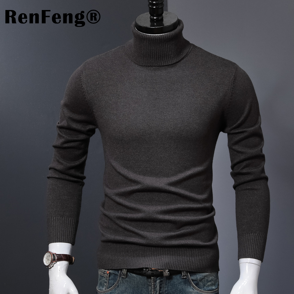 Winter Thick Warm Cashmere Sweater Men Turtleneck Mens Sweaters 2018 Slim Fit Pullover Men Classic Wool Knitwear Pull Homme (8)
