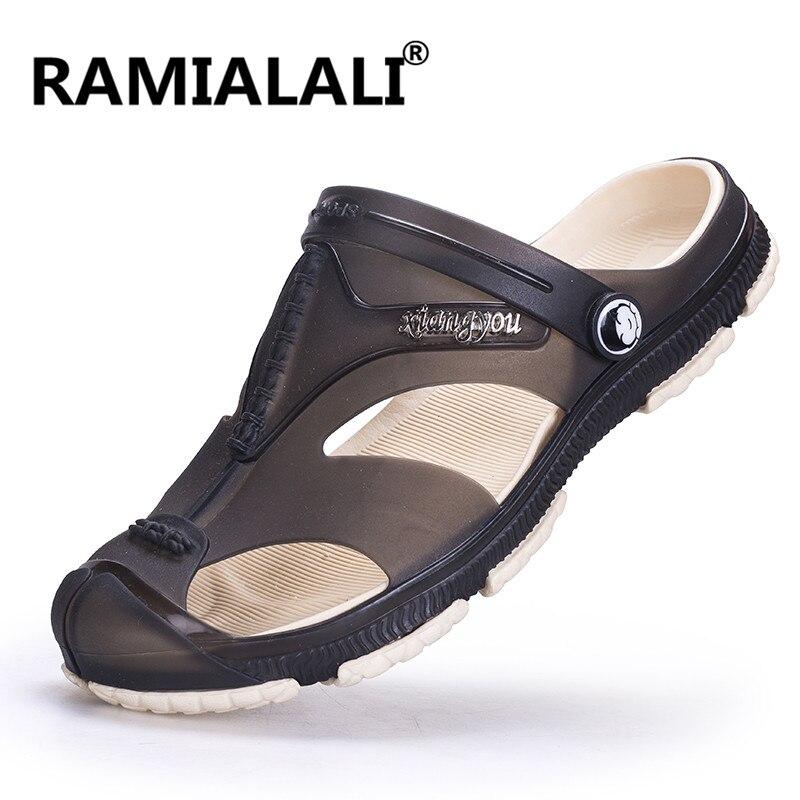 4bfb4366f ramialali для мужчин с шлепанцы сандалии повседневное мужская обувь модная  летняя пляжная обувь флип-флоп