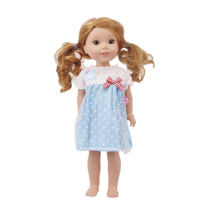 Doll Clothes <font><b>15</b></font> Pcs <font><b>Dress</b></font> Suitable <font><b>For</b></font> 14.5- inch Wellie Wishers American Doll <font><b>For</b></font> Generation <font><b>Girl</b></font>`s Toy Doll Accessories image