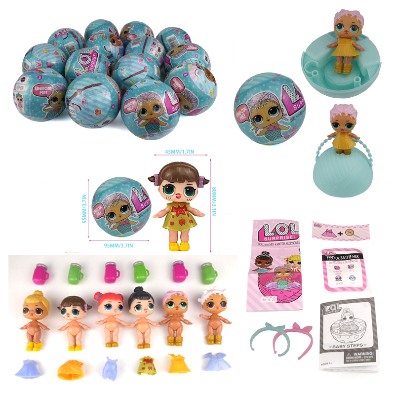 2017 New 8Pcs/Lot Series 1 LOL Boneca Surprise Doll Magic Funny Unpacking Removable Egg Balls Dress Up Novelty Toys For Children lol surprise doll boneca funny dolls toys for children girl gift series 1