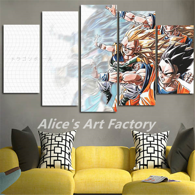 5planes canvas prints painting on the wall posters dragon for Dragon ball z living room